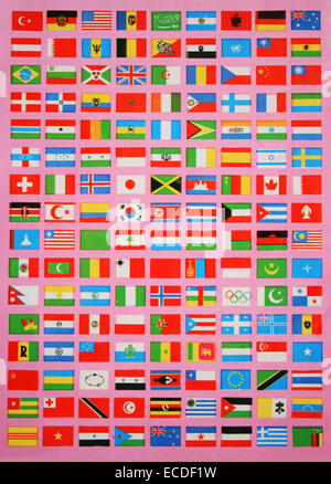 Flags Of The World ,before 90s - Stock Photo