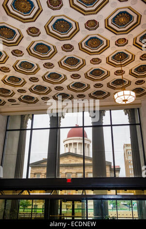 Springfield Illinois JP Morgan J P J. P. former site Sangamon County Courthouse Court House Abraham Lincoln practiced - Stock Photo