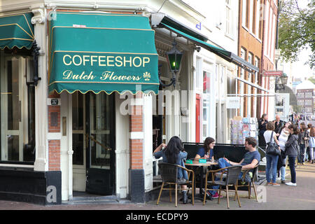 Amsterdam coffee shop - Stock Photo