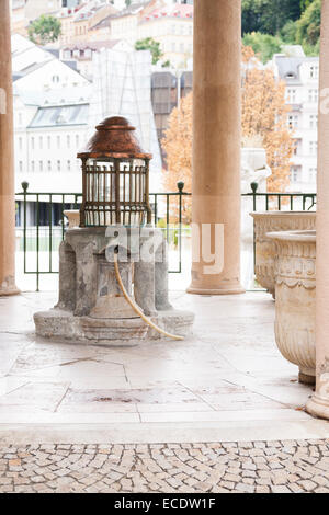 Mineral spring detail, Karlovy Vary (Karlsbad), Czech Republic - Stock Photo
