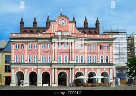 Town Hall. Rostock, Germany - Stock Photo