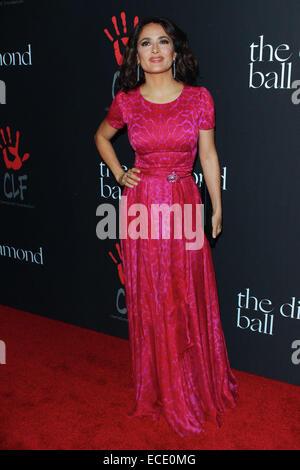 Los Angeles, California, USA. 12th Dec, 2014. Salma Hayek attends Rihanna's First Annual Diamond Ball benefitting - Stock Photo