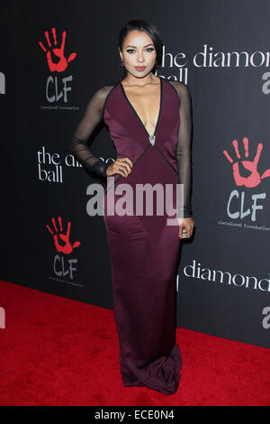 Los Angeles, California, USA. 12th Dec, 2014. Kat Graham attends Rihanna's First Annual Diamond Ball benefitting - Stock Photo