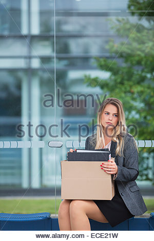 Woman frustrated frustration anxiety bankrupt - Stock Photo