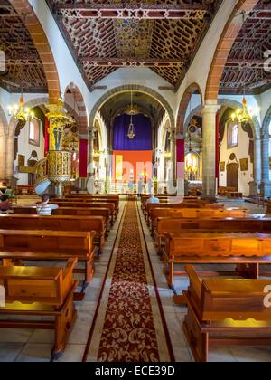 Iglesia Matriz de El Salvador, church in Santa Cruz de La Palma, La Palma, Canary Islands, Spain - Stock Photo