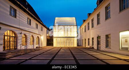 Wedinghausen monastery with light house, Arnsberg, Sauerland, North Rhine-Westphalia, Germany - Stock Photo