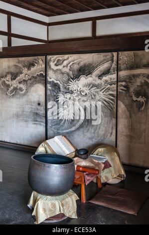 Ryogen-in Temple, Daitoku-ji, Kyoto, Japan. Interior - Stock Photo