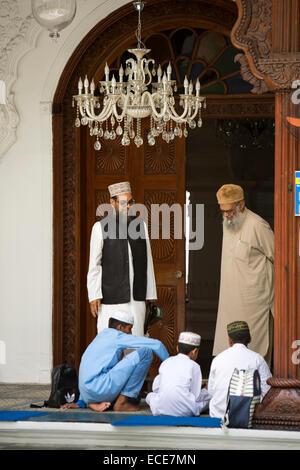 Mauritius, Port Louis, Jummah Mosque, Islamic education, children learning in madrassa - Stock Photo