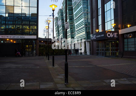 Merry Christmas at Colmore business and financial district,Snowhill train station - Stock Photo