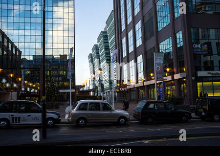 Snowhill train station at Colmore business and financial District and taxi rank - Stock Photo
