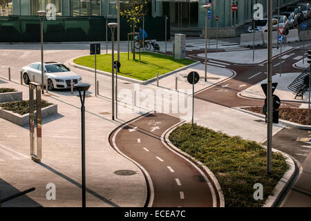 Milan, square Gae Aulenti, new buildings, design, Lombardy, Italy - Stock Photo