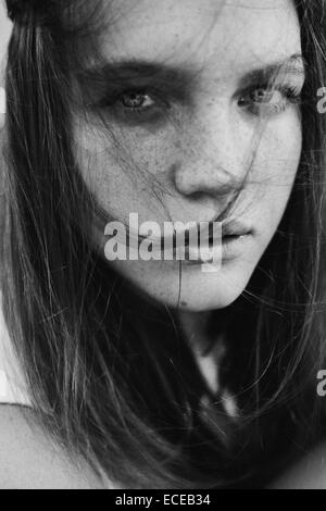 Russia, Portrait of teenage girl (14-15) - Stock Photo