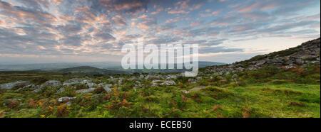 Sharptor Panorama at Dawn - Stock Photo