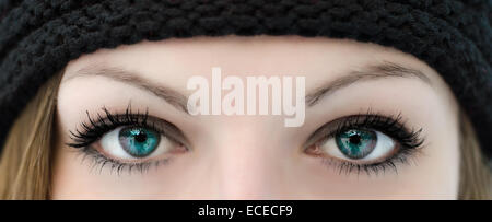 Close-up of a woman's eyes - Stock Photo
