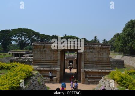 Underground Shiva Temple @ Hampi - UNESCO World Heritage site - Stock Photo