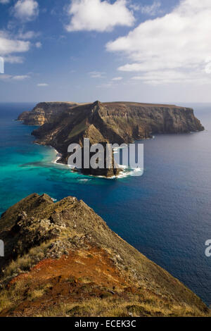 Ilheu da Cal island, Porto Santo, Madeira, Portugal - Stock Photo