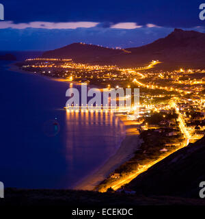 Night landscape of Porto Santo, Madeira Islands, Portugal - Stock Photo