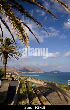 Porto Santo viewpoint, Madeira islands, Portugal, Europe - Stock Photo
