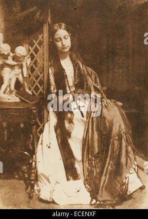 Elizabeth Rigby [Lady Eastlake]; Hill & Adamson, Scottish, active 1843 - 1848; Scotland, Europe; 1843 - 1847; Salted - Stock Photo