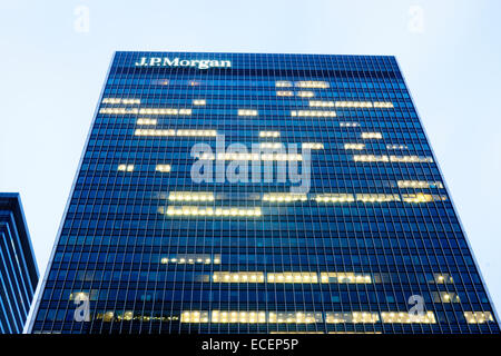 JP Morgan Building.   Office Building, Canary Wharf London - Stock Photo