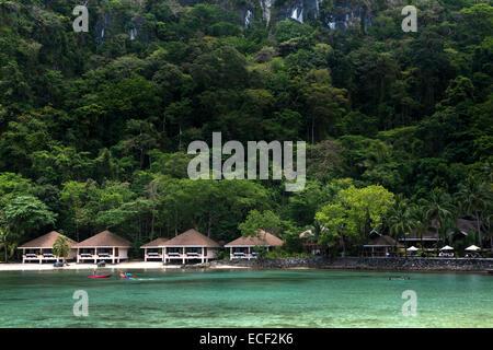 Lagen Island Resort in El Nido, Palawan - Stock Photo