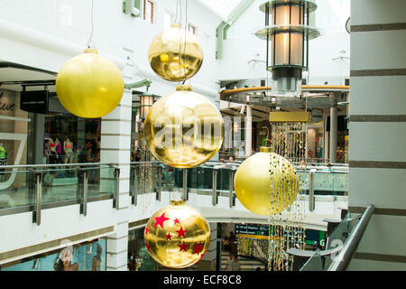giant christmas decorations warringah mall shopping centre in northern sydney,new south wales,australia - Stock Photo