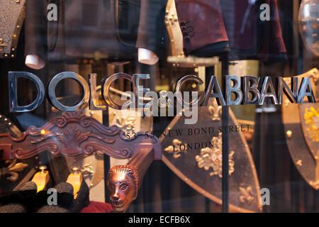 Dolce & Gabbana fashion store on New Bond Street - Stock Photo