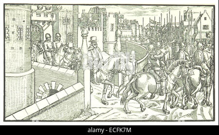 MORRIS(1889) p113 SIR HENRY SIDNEY, LORD-DEPUTY, ACCOMPANIED BY AN ARMED FORCE, SETS OUT FROM DUBLIN CASTLE - Stock Photo