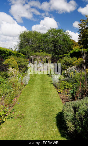 The Secluded Walled Garden At Westover House, Calbourne, Isle Of Wight    Stock Photo