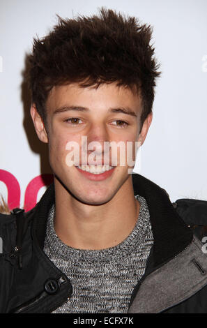 New York, New York, USA. 12th Dec, 2014. Vine actor CAMERON DALLAS attends the Z100's Jingle Ball 2014 arrivals - Stock Photo