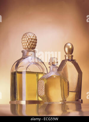 Vintage Glass Perfume Bottle - Stock Photo