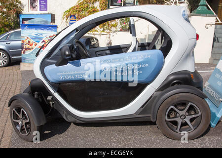 The Salutation Hotel, Ambleside The Twizy  two seater electric car hire  Lake District National Park - Stock Photo