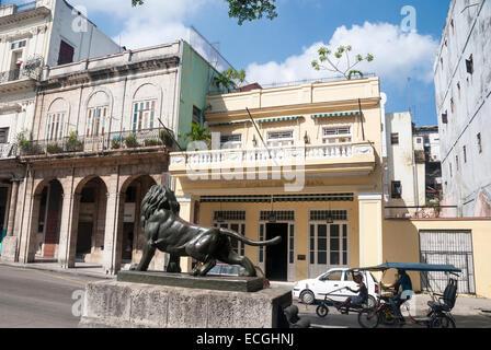 The well-known restaurant Centro Andaluz de la Habana on the Paseo de Marti in central Havana Cuba - Stock Photo