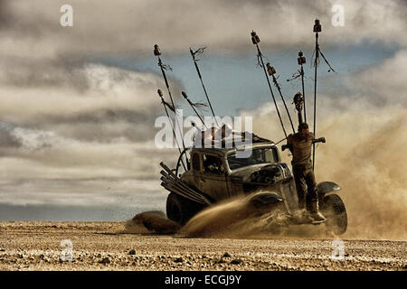 Mad Max: Fury Road is an upcoming post-apocalyptic action film directed, produced and co-written by George Miller, - Stock Photo