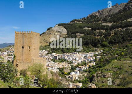 Yedra Castle in Cazorla village, Sierra de Cazorla Segura y Las Villas Natural Park, province of Jaen, Andalusia, - Stock Photo