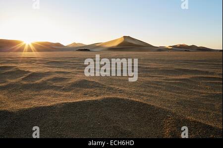 Sand dunes, Namib Desert, Swakopmund, Namibia - Stock Photo