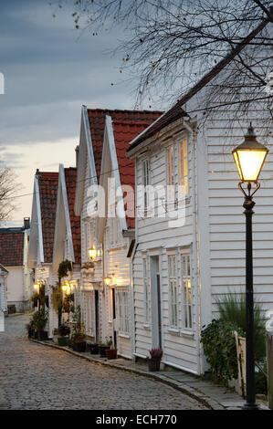 Gamle Stavanger, historic centre, Stavanger, Rogaland, Norway - Stock Photo