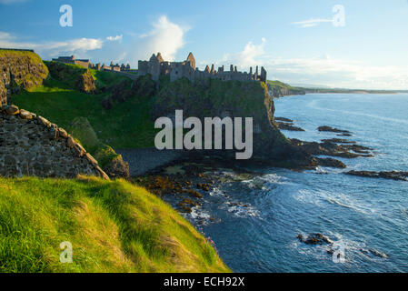 Evening at Dunluce Castle, Causeway Coast, County Antrim, Northern Ireland. - Stock Photo