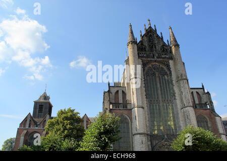 Hooglandse Kerk, an important Gothic church in Leiden, The Netherlands, dating from the fifteenth century. - Leiden - Stock Photo