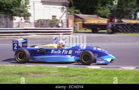 Helio Castro Neves british formula 3 championship test day 1995, 23 june 1995 oulton park. - Stock Photo