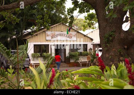 Mauritius, Mahebourg, Biscuiterie Rault Manioc Biscuit factory - Stock Photo