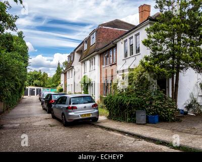 Twickenham, Greater London, UK - typical terraced suburban houses in suburbia - Stock Photo