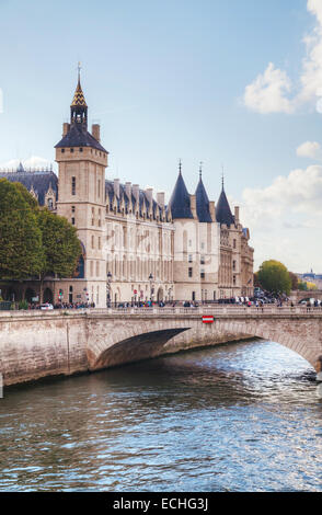 The Conciergerie building in Paris, France on a sunny day - Stock Photo
