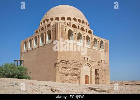 The 12th-century Sultan Sanjar mausoleum in Merv / Merw near Mary, Turkmenistan - Stock Photo