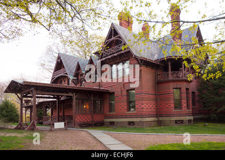 Mark Twain house and museum in Hartford CT - Stock Photo