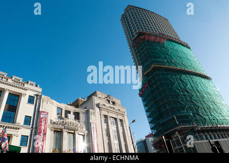 Centre Point Building undergoes facelift in preparation for luxury flats in Tottenham Court Road London UK  KATHY - Stock Photo
