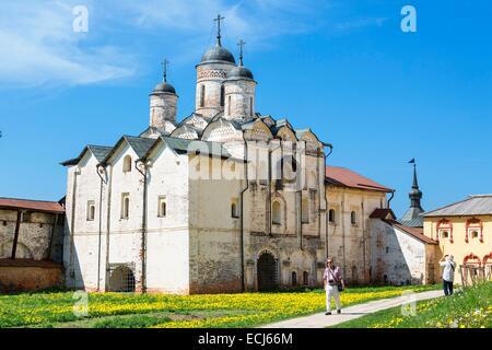 Russia, Goritsy, Kirillo-Belozersky Monastery on White Lake - Stock Photo