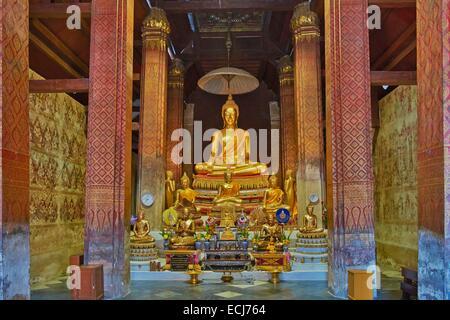 Thailand, Petchaburi, Wat Yai Suwannaram - Stock Photo