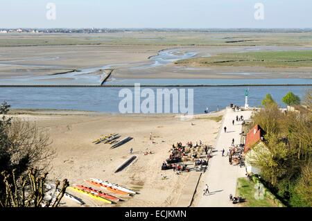 France, Somme, Saint Valery sur Somme, beach of the town - Stock Photo