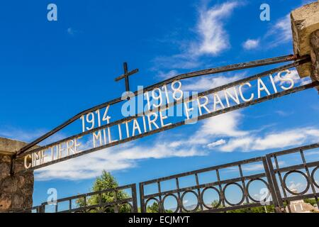 Republic of Macedonia, Bitola, the French cemetery, built in 1923 and has more than 6200 graves of French soldiers - Stock Photo